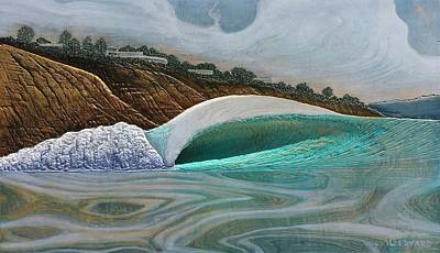 La Jolla Painting - Blacks Beach by Nathan Ledyard