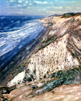 Photograph - Blacks Beach Torrey Pines Cliffs by Glenn McNary