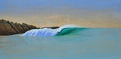 Surfing Art Painting - Blacks by Nathan Ledyard