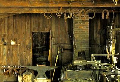 Photograph - Blacksmith Anvil by Ian  MacDonald