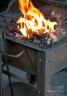 Photograph - Blacksmith Fire by Valerie Garner