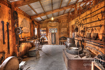 Photograph - Blacksmith Shop - Car Mechanic Tools by Liane Wright