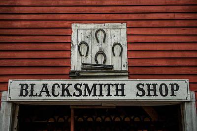 Blacksmith Shop Sign Art Print