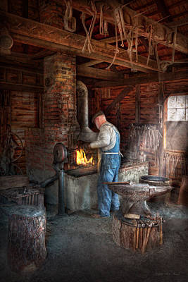Photograph - Blacksmith - The Importance Of The Blacksmith by Mike Savad
