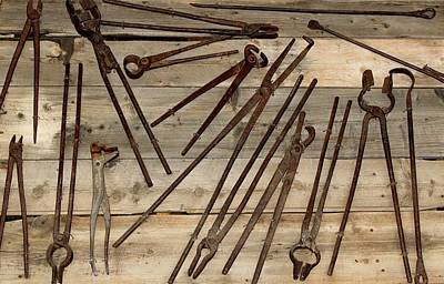 Photograph - Blacksmithing Tools by Steven Parker