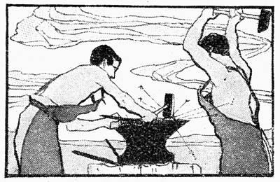 Blacksmiths, 1900 Art Print by Granger