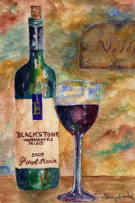 Painting - Blackstone Wine by Tamyra Crossley
