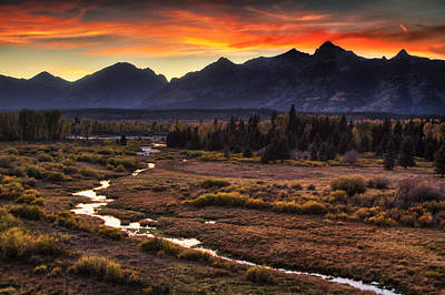 Snake River Photograph - Blacktail Sunset by Mark Kiver