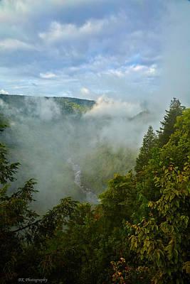 Blackwater Canyon Photograph - Blackwater Canyon Fog by Brian Simpson