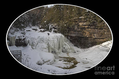 Photograph - Blackwater Falls In The Winter by Dan Friend
