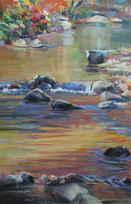 Painting - Blackwater River In Autumn by Susan Bradbury