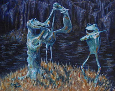 Blackwater Vibrations In The Audubon Swamp Art Print