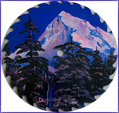 Saw Blades Painting - Blade Mountain by Sharon Duguay