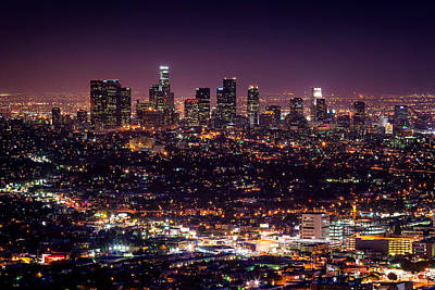 Night Angel Photograph - Los Angeles Skyline by Alexis Birkill