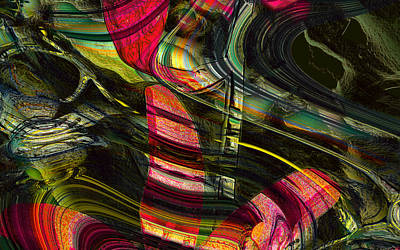 Digital Art - Blades In The Layered Worlds by Richard Thomas