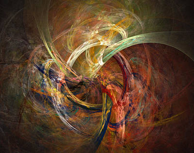 Spirals Digital Art - Blagora by David April