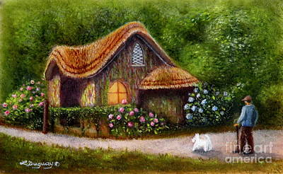 Painting - Blaise Rustic Cottage by Lora Duguay
