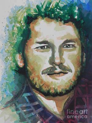 Blake Shelton  Country Singer Art Print by Chrisann Ellis