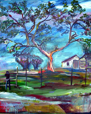 Painting - Blanco Texas Ranch House by Frank Botello