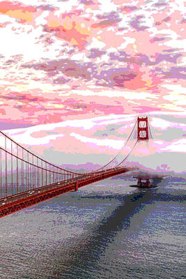 Surrealism Royalty Free Images - Blanket Around Golden Gate Royalty-Free Image by James Harper