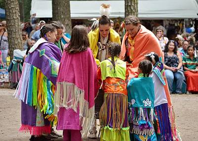 Photograph - Blanket Dance Finish - Nanticoke Powwow by Kim Bemis