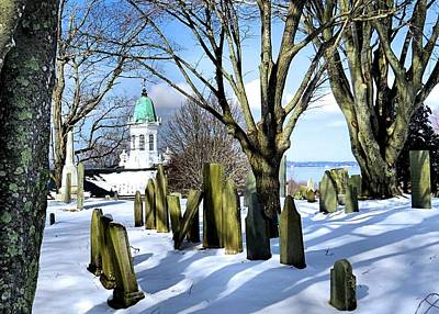 Photograph - Blanket Of Snow Burial Hill by Janice Drew