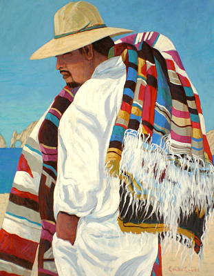 Wall Art - Painting - Blanket Seller by Chris MacClure