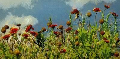 Painting - Blanketing The Sky by Jeff Kolker