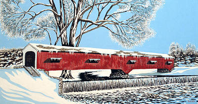 Blankets Of Winter Art Print by David Linton