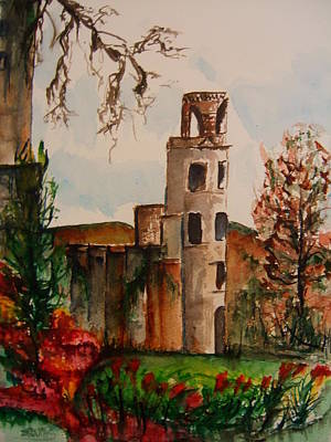 Blarney Castle Painting - Blarney Castle by Elaine Duras