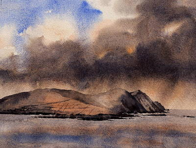 Painting - Blasket Storm  Kerry by Val Byrne