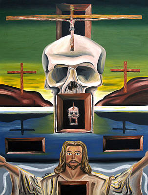 Art Print featuring the painting Blasphemixition by Ryan Demaree