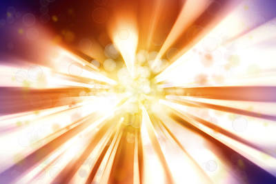 Sun Rays Digital Art - Blast Background  by Les Cunliffe
