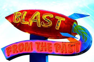 Blast From The Past Art Print by Karen Anderson