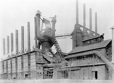 Number 3 Photograph - Blast Furnace by Hagley Museum And Archive