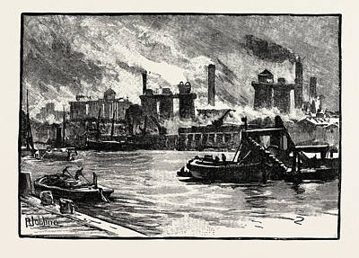 Blast Furnaces, From The River, Middlesbrough Art Print