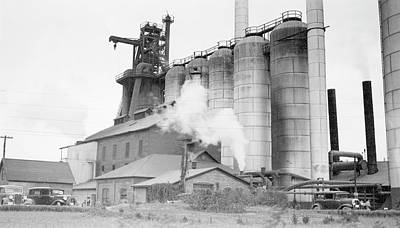 Blast Furnaces Art Print by Hagley Museum And Archive