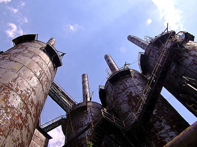 Photograph - Blast Furnaces by Michael Dorn