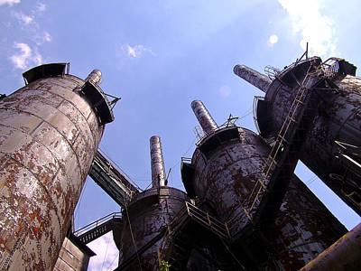 Photograph - Blast Furnaces by Michael Dorn