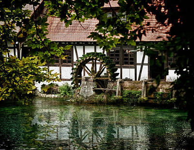 Photograph - Blautopf Mill by Patrick Boening