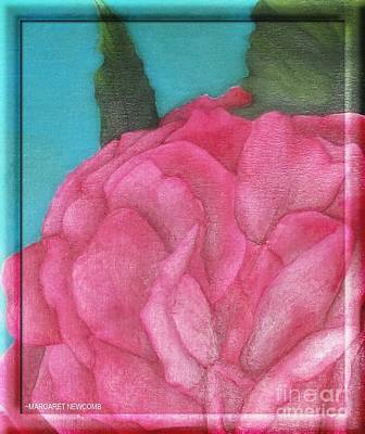 Blaze Rose Oil On Canvas Art Print