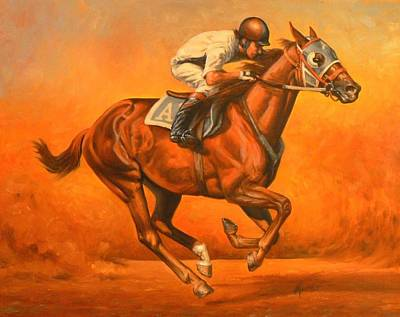 Kerry Nelson Painting - Blazin Fast by Kerry Nelson