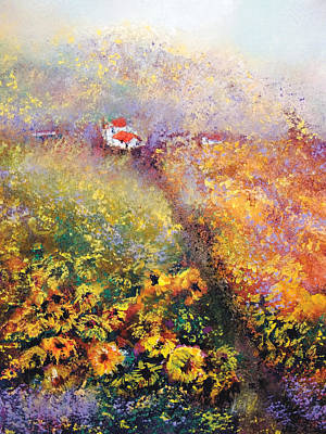 Painting - Blazing Fields by Loretta Luglio