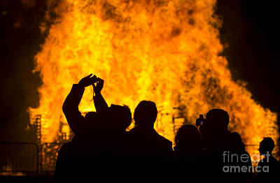 Photograph - Blazing Fire by Clare Bambers