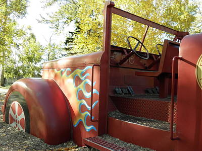 Blazing Red Fire Truck Art Print