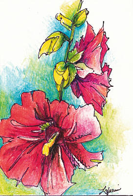 Blazing Red Art Print by Lynda Dorris