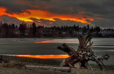 Photograph - Blazing Sunset II by Randy Hall
