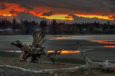 Photograph - Blazing Sunset by Randy Hall