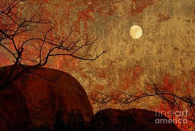 Burning Bush Mixed Media - Blazing Sunset   by Sherry  Curry