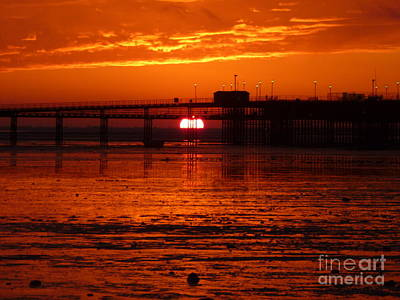 Print featuring the photograph Blazing Sunset by Vicki Spindler